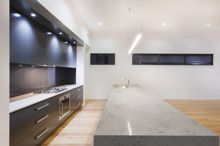 Luxury minimalist kitchen